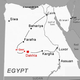 Desert Lodge Hotel In The Oasis Of Dakhla New Valley Egypt - Map of egypt oasis